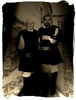 Antonio Bertocchi e Antonio Murena indossano il costume tradizionale di Orani