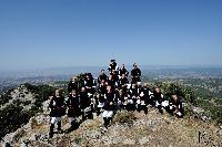 il coro di Orani sulle pendici del monte Gonare