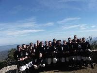 il gruppo corale Monte Gonare in costume tradizionale di orani  - anno 2006