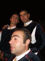 Massimo Emiliano e Marco - tre coristi del coro Monte Gonare