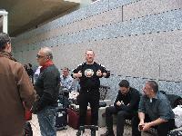 Il basso Gianfranco Borrotzu in partenza per Londra