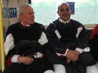 Antoni Bertocchi e Salvatore Cavada nella metro di Londra