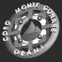 logo del coro monte gonare in 3d