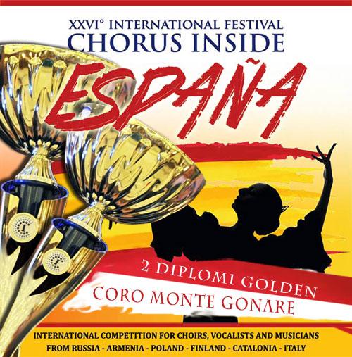chorus inside Spagna 2017 - 2 diplomi golden al Coro Monte Gonare