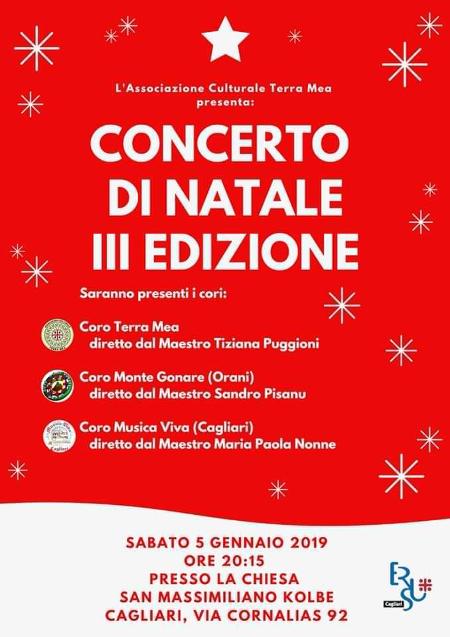 concerto di natale Terra Mea Cagliari 2018